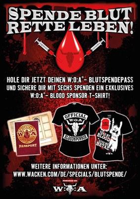 Metalheads spenden Blut